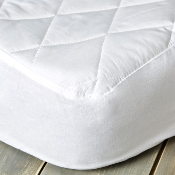 Staydrynights Quilted Mattress Protector White undefined