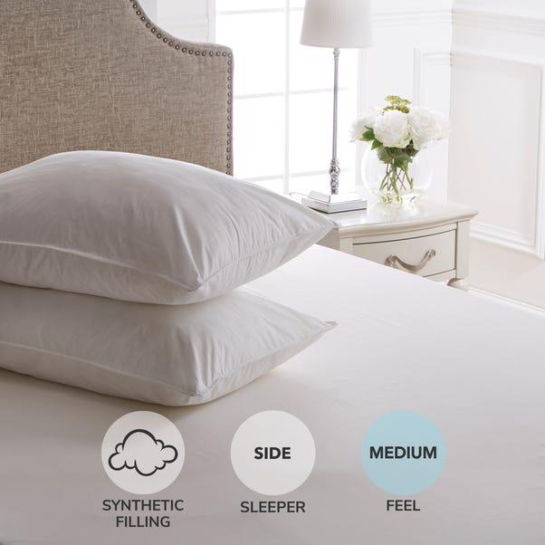 Dorma Full Forever Medium Support Pillow Pair White
