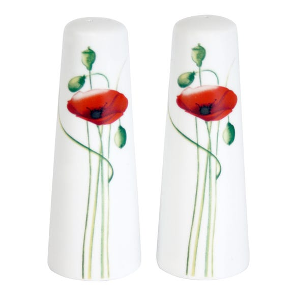 Poppy Salt and Pepper Pots Red