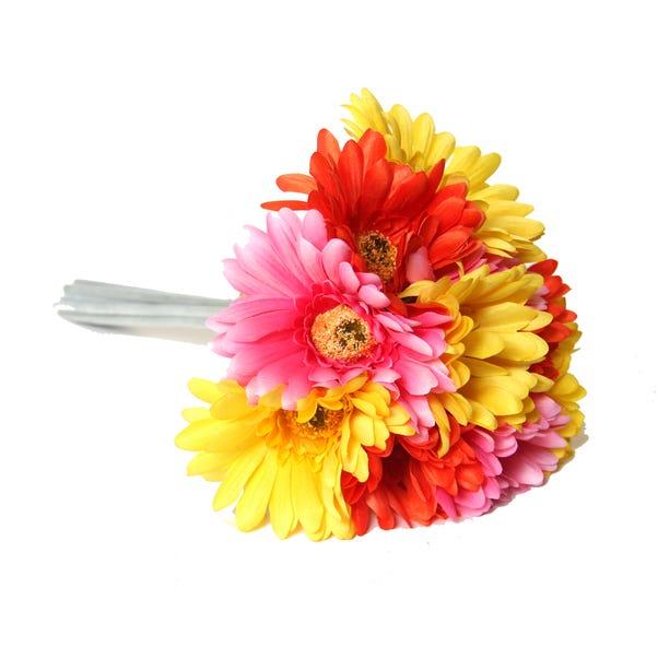 Artificial Gerbera Multi Bouquet 32cm Multi Coloured