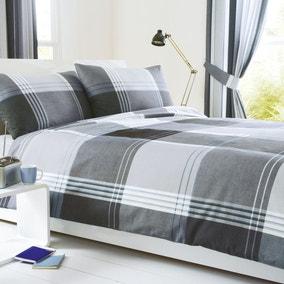 Taylor Blue Reversible Duvet Cover and Pillowcase Set