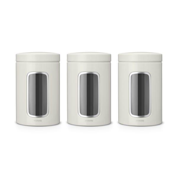 Brabantia Window Storage Jar Set Off-White White