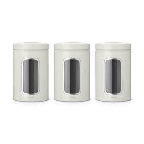 Brabantia Window Storage Jar Set Off-White