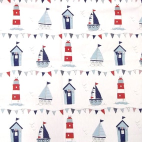 Maritime Blue Cotton Fabric