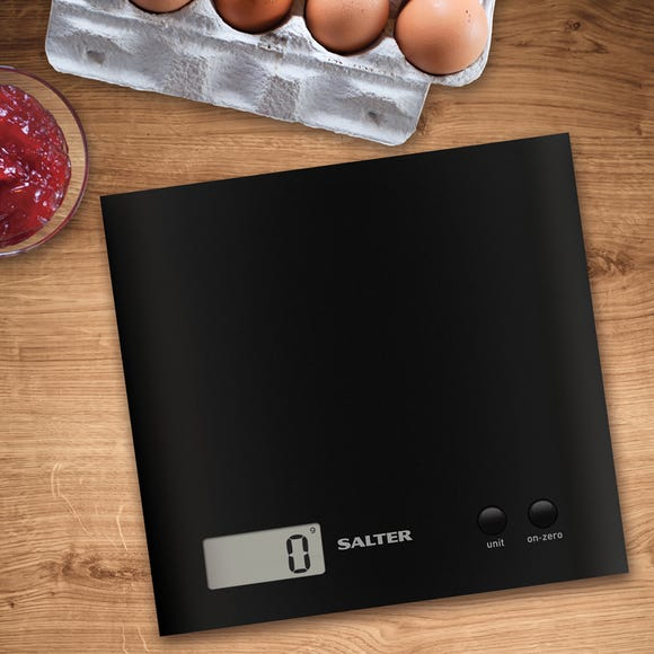 Salter Arc Electronic Kitchen Scales Black