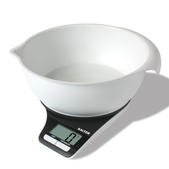 Salter Electronic Kitchen Scales Black and White