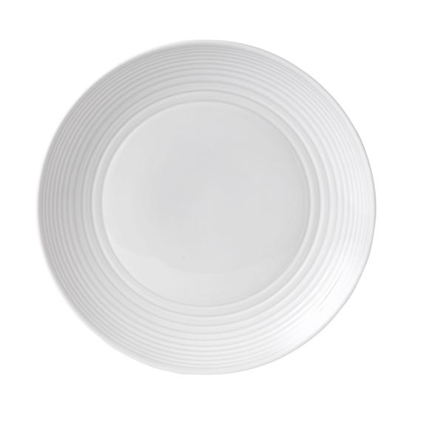 Gordon Ramsay by Royal Doulton White Maze Dinner Plate White