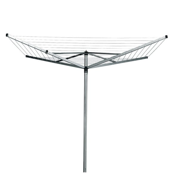 Brabantia 40 Metre 4 Arm Compact Rotary Washing Line with Cover Silver