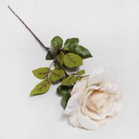 Artificial Rose Cream Single Stem 80cm