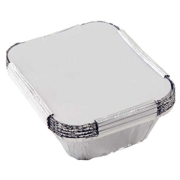 Tala Pack of 10 Foil Containers Silver