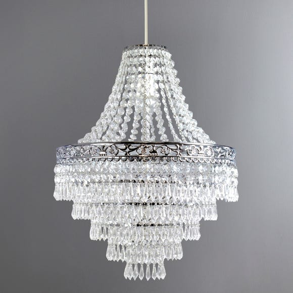 Blenheim 47cm Chandelier Easy Fit Pendant Silver