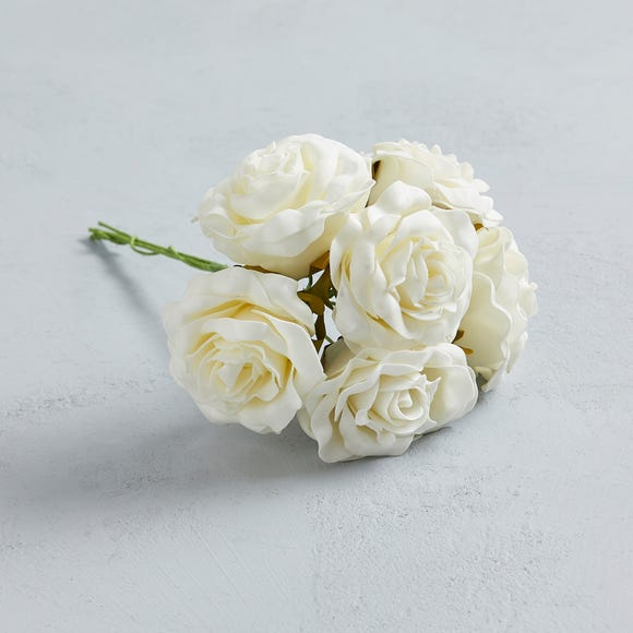 Artificial Rose Ivory Bundle 30cm Ivory undefined