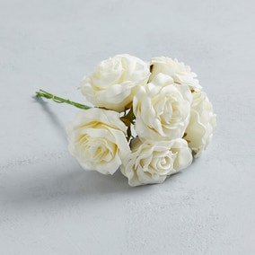 Artificial Rose Ivory Bundle 30cm