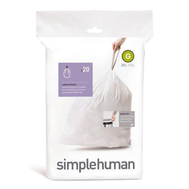 simplehuman G 30 Litre Bin Liners White