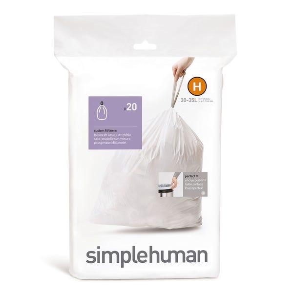simplehuman H 30-Litre Bin Liners White