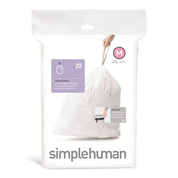 simplehuman M 45 Litre Bin Liners White