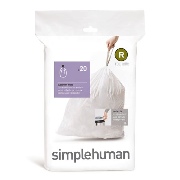 simplehuman R 10 Litre Bin Liners White