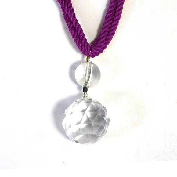 Crystal Droplet Tieback Plum Purple