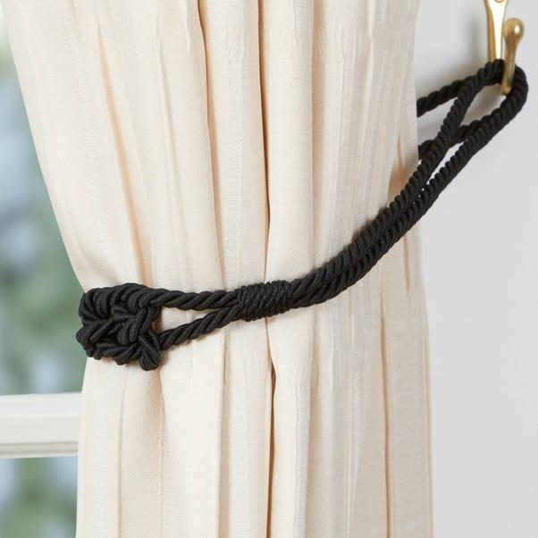 Knot Tieback Black