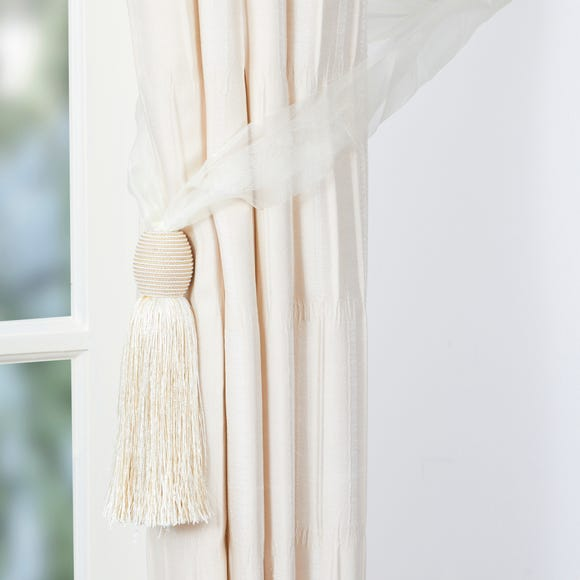 Voille Curtain Tieback Cream