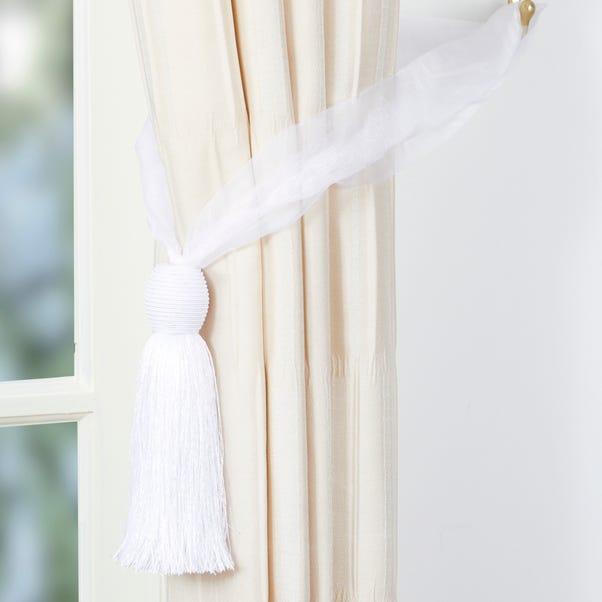 Voille Curtain Tieback White