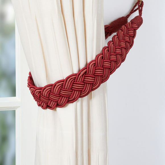 Plaited Tieback Red