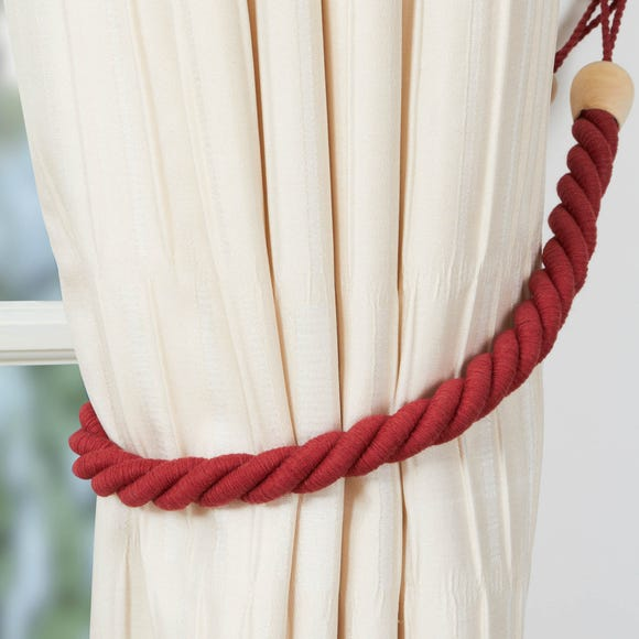 Cotton Rope Tieback Red