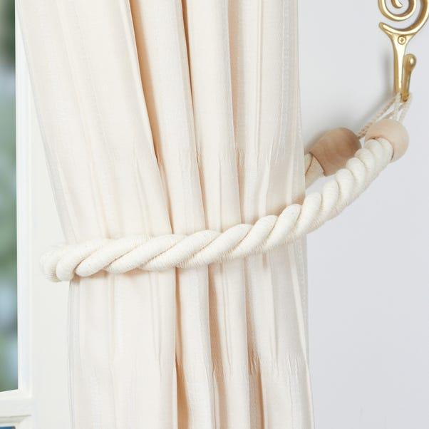 Cotton Rope Tieback Natural
