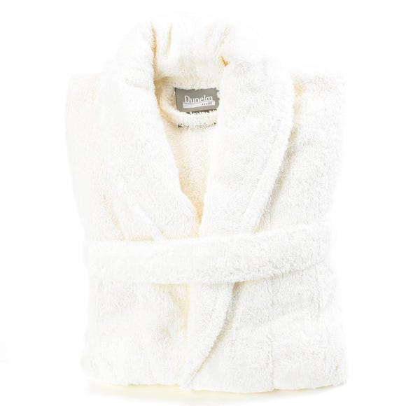 Egyptian Cotton Cream Dressing Gown  undefined