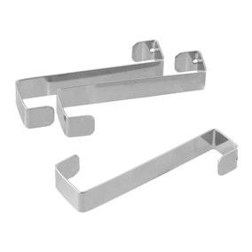 Set of 3 Lacquered Metal Door Hooks