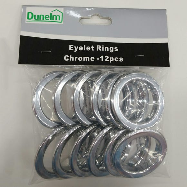 Eyelet Ring Pack Chrome