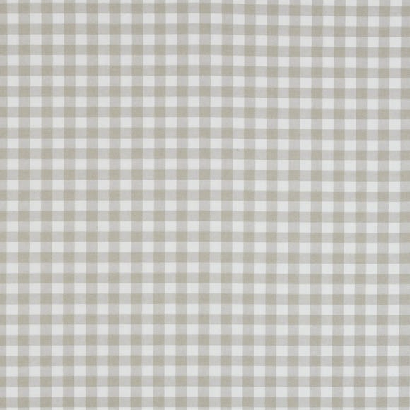 Gingham Check Fabric Taupe
