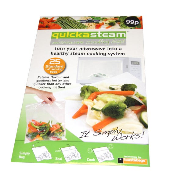 Quickasteam Microwave Cooking Bags Clear