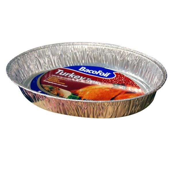 BacoFoil Turkey Tray Silver