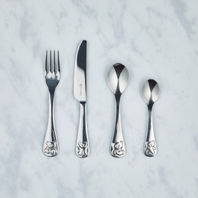 Kids Viners Bertie Bear 4 Piece Cutlery Set