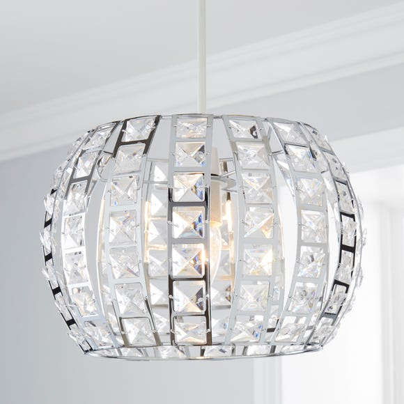 West End Chrome Easy Fit Pendant Silver