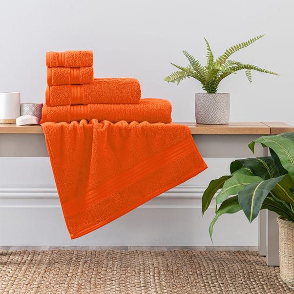 Burnt Orange Egyptian Cotton Towel Burnt Orange undefined