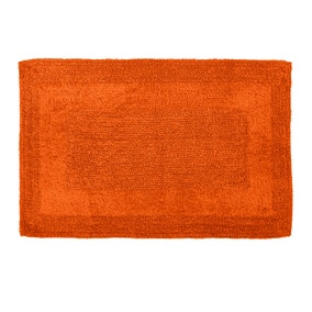 Super Soft Reversible Burnt Orange Bath Mat