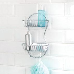 Bathroom Basics 2 Tier Shower Caddy