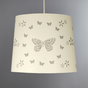 Laser Cut Butterfly 25cm Tapered Cream Shade