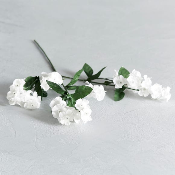 Artificial Seventh Heaven White Single Spray 48cm White