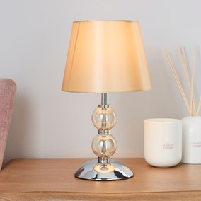 Rosie Glass Ball Champagne Table Lamp