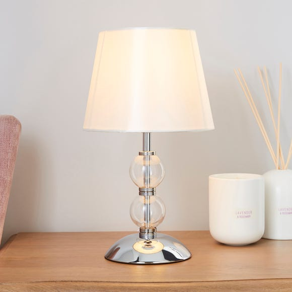 Rosie Glass Ball Table Lamp Ivory