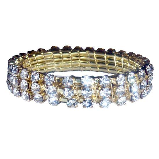 Diamante Napkin Ring Gold
