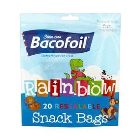 Bacofoil 20 Reusable Rainbow Kids Snack Bags