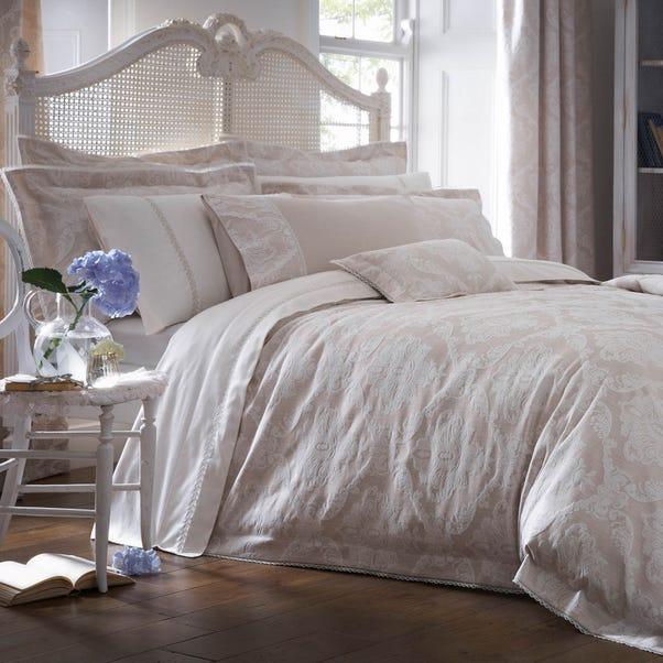 Dorma Aveline Jacquard Natural Duvet Cover  undefined