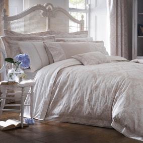 Dorma Aveline Jacquard Natural Duvet Cover