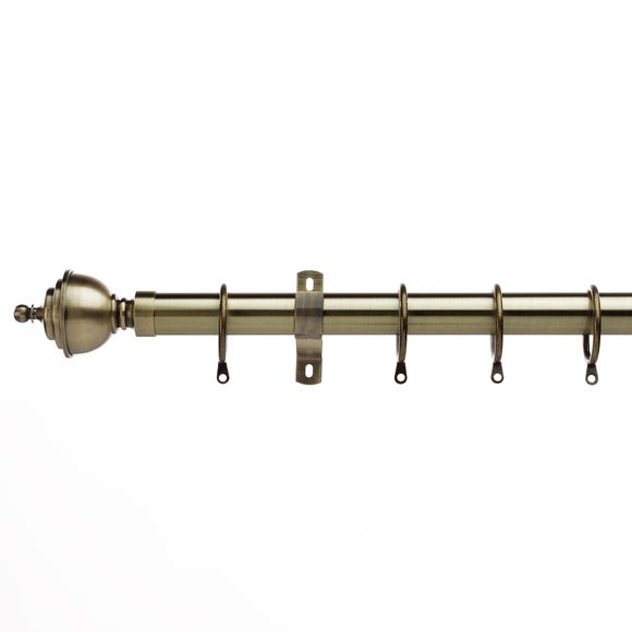 Swish Minster Antique Brass Fixed Curtain Pole Dia. 28mm  undefined