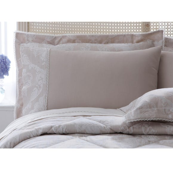 Dorma Aveline Natural Cuffed Pillowcase Natural