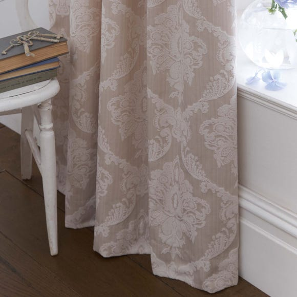 Dorma Aveline Natural Pencil Pleat Curtains  undefined
